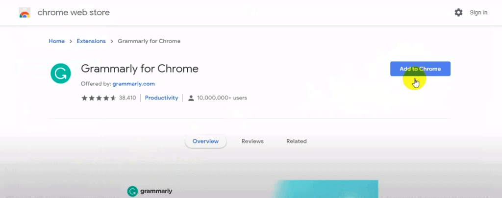 add grammarly chorme extension